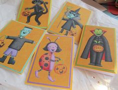 CLEARANCE SALE Halloween cards trick or treat by SandrasCardShop, $6.00