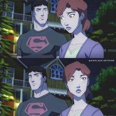 Superboy And Miss Martian, The Martian, Superboy Young Justice, Young Justice Characters, Young Justice Season 3, Manhwa, Justice League 2, Wally West, Batman Art