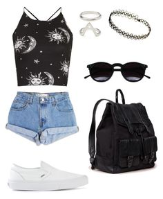 """""""Tenue 35"""" by julie-chloe-renard ❤ liked on Polyvore featuring Levi's, Motel, Proenza Schouler, Forever 21, Vans, Chicnova Fashion, women's clothing, women's fashion, women and female"""