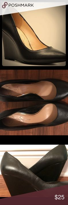 Jessica Simpson Black Wedge Heels like new! 6.5 Like New Size 6.5 Jessica Simpson Black Shoes! Women's Mid wedge closed toe dress pump/heels Jessica Simpson Shoes Wedges