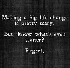 Regret is what i'm left with..