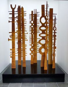 Peter Mclisky totem sculptures