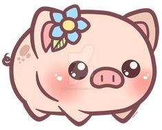 Little Piggy_Charm Design by pinkplaidrobot