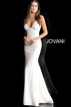 a370f4f0262c jovani Off White Backless Spaghetti Straps Prom Dress 63456 Fitted Prom  Dresses, Prom Girl Dresses