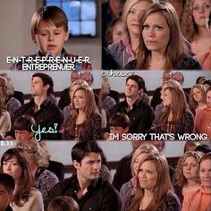 Lol ... I love how Nathan is so OFFENDED by Haley saying that.