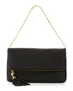 Tonne Fold-Over Clutch Bag, Black by Michael Kors at Neiman Marcus.