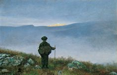 Far, far away Soria Moria Palace shimmered like Gold - Theodore Kittelsen 1900 Norwegian painter Theodore Kittelsen, Moritz Von Schwind, Nicholas Roerich, Most Popular Artists, National Gallery, Art Database, Nature Paintings, Far Away, Thing 1
