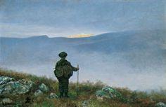 #Theodor #Kittelsen. Soria Moria slott, 1900. «Langt, langt borte saa han noget lyse og glitre.»