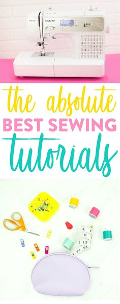 The Absolute Best Sewing Tutorials Whether you're a newbie when it comes to sewing or are already a pro, we are sure that you can learn even more tips, tricks, and techniques with these sewing tutorials that we've rounded up just for you. Sewing Hacks, Sewing Tutorials, Sewing Tips, Sewing Ideas, Bag Tutorials, Sewing Lessons, Sewing Basics, Fat Quarter Projects, Leftover Fabric