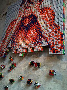 Rubics Cube - pixel art. Damn, I wish I thought of this!
