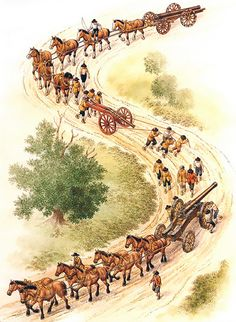 English Civil War, 1642-51: Artillery on the march