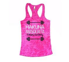 Workout motivation tank
