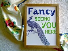 Fancy Seeing You Here by sycamorestreetpress $35