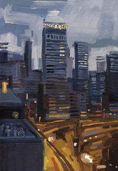 """Konrad Stafiński """"Monarch"""" Oil on Canvas Panel - 30X21cm - 2013"""