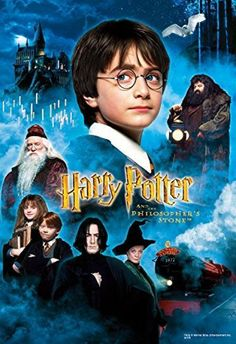 Harry Potter and the Philosopher's Stone -- Daniel Radcliffe, Rupert Grint, Emma Watson, Richard Harris, Tom Felton Harry Potter Poster, Philosopher's Stone Harry Potter, Harry Potter Comics, Harry Potter Main Characters, James Potter, Matthew Lewis, Hogwarts, Daniel Radcliffe, Harry Potter Movies