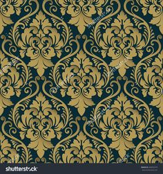Vector Damask Seamless Pattern Background. Classical Luxury Old Fashioned Damask…