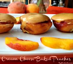 Cream Cheese Baked Peaches