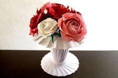 [mixi] ◆折り紙で作る薔薇◆ | ♪ローズガーデン♪ その3