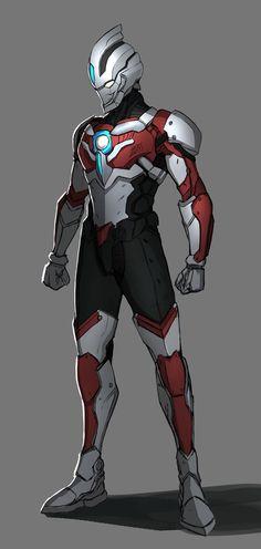 Ultraman Tattoos And Body Art design my own tattoo Robot Concept Art, Armor Concept, Superhero Design, Robot Design, Character Concept, Character Art, Futuristic Armour, Sci Fi Armor, Superhero Characters