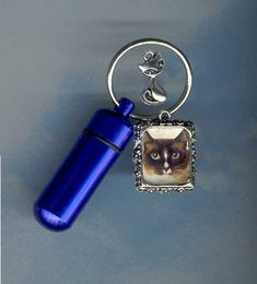 You do have choices when it comes to Cremation Urns and we can help! QS,Key Chain Urn,Pet Urn,Feline,Cat,Dog,Cremation Urn,Cremation Cylinder