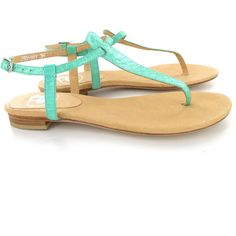 Austique Sandals Mint ($175) ❤ liked on Polyvore featuring shoes, sandals, flats, zapatos, sapatos, green, toe thong sandals, mint green flats, green flat shoes and green sandals