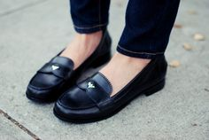 menswear-inspired loafers