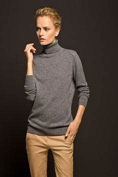Massimo Dutti CASHMERE TURTLENECK SWEATER