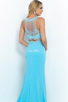 stunning two piece prom dress <3 crop top evening gown