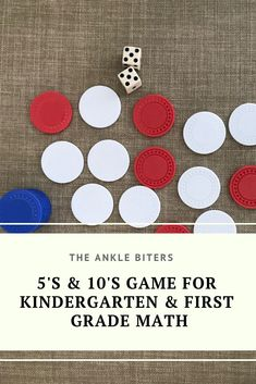 If you are working on simple math facts, counting by 5's and counting by 10's this is the game for you.  This is a favorite in our homeschool and you can really use so many different objects for this if you don't have an old poker set laying around your house. #homeschooling #homeschoolmath #math #gameschooling #preschoolmath #kindergartenmath