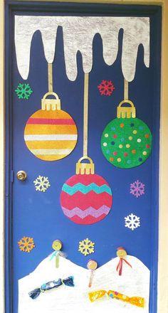 Christmas Door Decorating Contest, Office Christmas Decorations, Christmas Art Projects, Christmas Arts And Crafts, Preschool Christmas, Christmas Activities, Preschool Crafts, Kids Christmas, Holiday Crafts