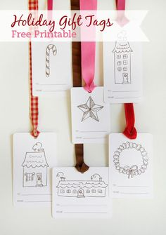 gift tags #free #printable #christmas #holidays #diy #crafts
