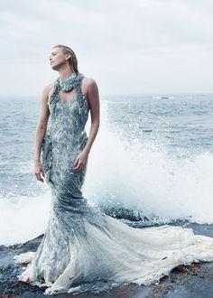 Charlize Theron by Annie Leibovitz, Vogue December 2011