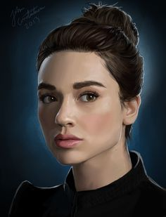 Crystal Reed - Alison Argent by johnneh-draws on DeviantArt