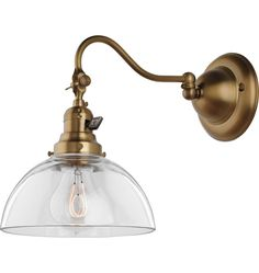 Turner in Old Brass with B2970 Clear Shade and C5459 Bulb from Rejuvenation Lighting & House Parts