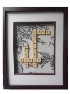 PERSONALISED SCRABBLE FRAMES, PERFECT GIFTS FOR ANY OCCASION | Twinlets MISI Handmade Shop