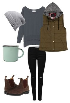 """West Coast Cozy"" by ejohnson12 on Polyvore featuring Blundstone, Friendly Hunting, The North Face and canvas"