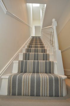 I hope you learned a thing or two about how to choose and lay a stair runner from this overview! If you are ready to pull the trigger and shop for a stair runner, I have included several stair carpet runner ideas below! Stairs, Carpet Styles, Staircase Wall Decor, Patterned Carpet, Stair Runner, Hallway Decorating