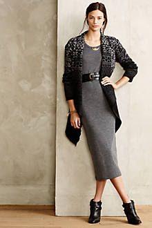 Sweater + black American Apparel dress