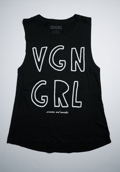 Vegan Girl - V G N G R L Organic Women's Tank — craziesandweirdos.com