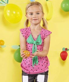 Another great find on #zulily! Strawberry Bow Top - Toddler & Girls by FabKids #zulilyfinds