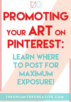 Promoting You Art On Pinterest