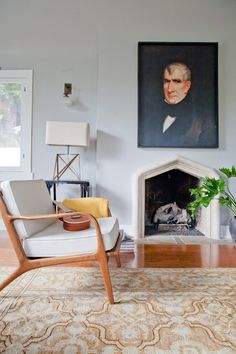 Inspiration from a Stylist: Emily Henderson's Project - lovely fireplace