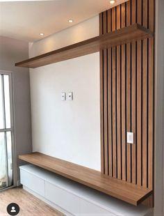 Tv Unit Interior Design, Tv Wall Design, Home Decor Bedroom, Home Living Room, Modern Tv Room, Modern Bathroom, Home Entrance Decor, Living Room Tv Unit Designs, Home Room Design