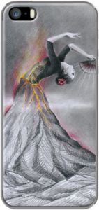 Case Dancing Volcano by EDrawings38 #art #dance #volcano #woman #phonecases