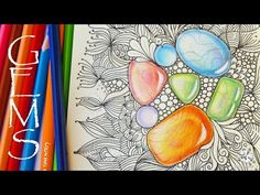 How to Draw Gems | Colored Pencil Tutorial | Zentangle Inspired Art with Gemstones - YouTube