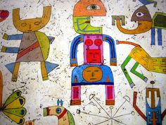 Prelude to a Civilization (detail) by Victor Brauner, 1954   Met Museum