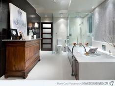 Badkamer waar traditioneel en design mooi samen komen