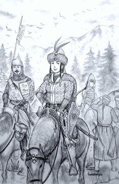 Orsolya Andrasfi of Karpati Kiralysag (Magyar) by Gambargin on DeviantArt Fantasy Characters, Fictional Characters, Leo Zodiac, Dieselpunk, Middle Ages, Social Community, Renaissance, Medieval, Steampunk