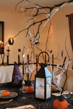 Decorating for Halloween on a budget via thecharmofhome.blogspot.com