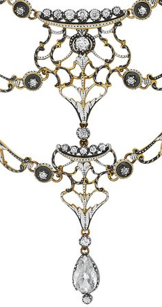 Diamonds in the Library: Renaissance-revival necklace by Carlo and Arthur Giuliano.